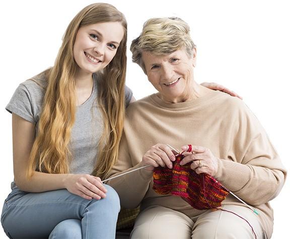 opiekowanie się starszą osobą