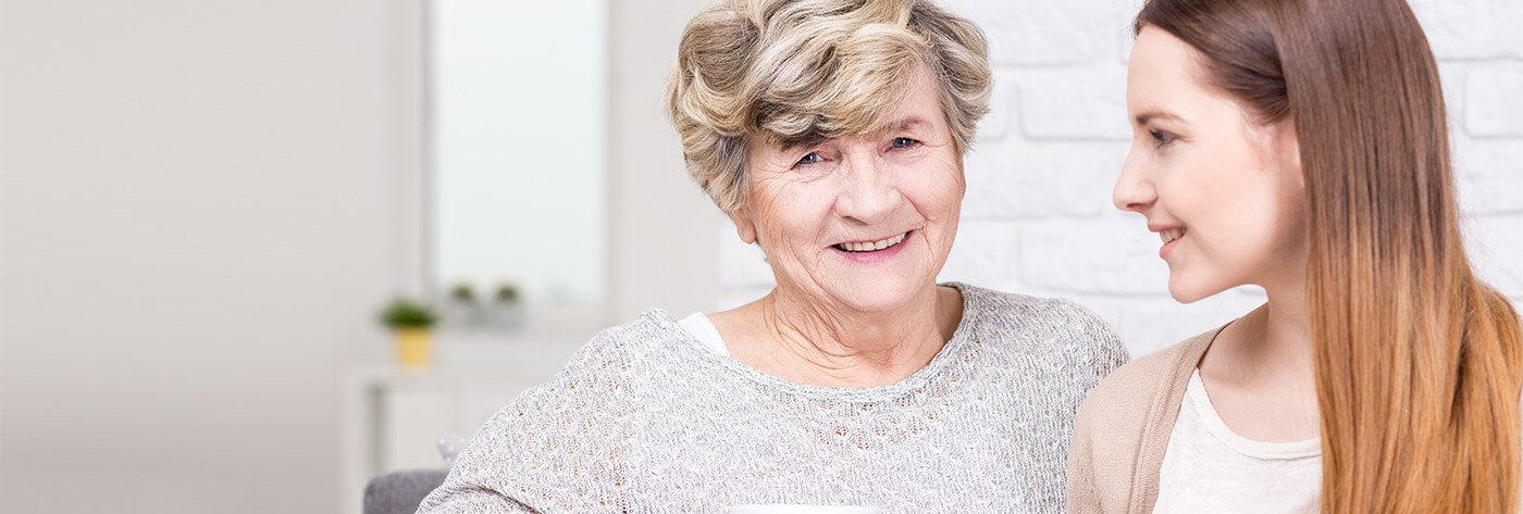 Betreuer einer älteren Person